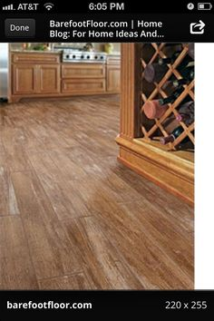 Love these floors. Ceramic wood look tile