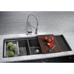 B440410 Precis White/Color Undermount - Double Bowl Kitchen Sink - White at FergusonShowrooms.com