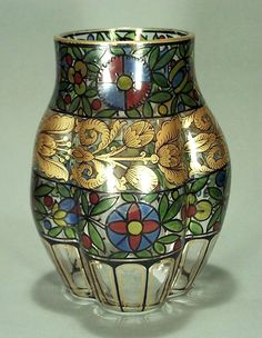"Vase Hermann Pautsch Haida, circa 1920"""