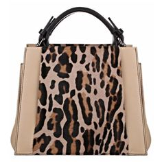 Caroline De Marchi Bali Beige Leopard Small Satchel Handbag ($2,502) ❤ liked on Polyvore featuring bags, handbags, beige handbags, leopard print purse, leopard handbag, satchel bags and handle satchel