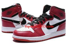 Air Jordan 1 (I) Retro White Black Red     #Red  #Womens #Sneakers