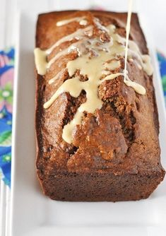 Banana Coffee Bread Recipe with Coffee Glaze: The Morning Picker-Upper — Savor The Thyme - Food, Family and Lifestyle Coffee Bread Recipe, Banana Bread Recipes, Coffee Recipes, Recipe With Coffee, Muffin Recipes, Banana Coffee, Coffee Cake, Espresso Coffee, Date Nut Bread