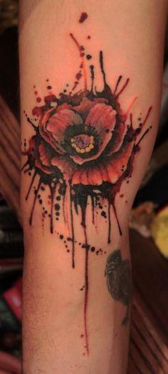 Scarlet begonias tattoo