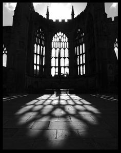 A picture of my home city, Coventry. Old Coventry Cathedral (England) Sacred Architecture, Gothic Photography, Photography Lighting, Scenic Photography, Digital Photography, Street Photography, Landscape Photography, Coventry Cathedral, Coventry City