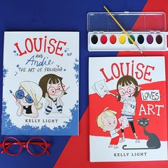 """Art is my imagination on the outside!"" ❤️ If you have an artist in your life they are guaranteed to LOVE the Louise Loves Art books by @kelight!  #childrensbooks #kidlit #kidslit #bookstagram #books #picturebooks #Art #artist #illustration"