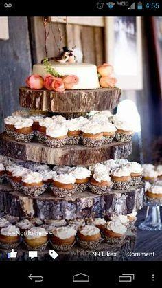 Tree cupcake and cake holder :)
