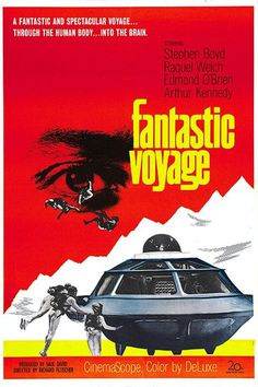 """'Fantastic Voyage'~ 1966 Raquel Welch as """"Cora"""". Best Movie Posters, Classic Movie Posters, Classic Movies, Movie Titles, Movie List, Donald Pleasence, Science Fiction, Raquel Welch, Poster S"""