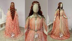 Peach Armor Gown by Firefly-Path.deviantart.com on @DeviantArt