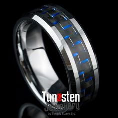 Blue Carbon Fiber Tungsten Ring https://simplysuave.co.nz/wp-content/uploads/Hydro-Blue-Carbon-Fbre-Ring.jpg