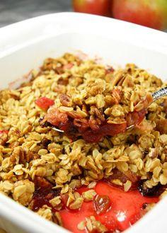 Cranberry Apple Casserole ... or crisp ... or crunch. Side dish, breakfast/brunch, or dessert. www.thekitchenismyplayground.com