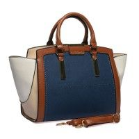SY1647 Brown - Sally Young Multi-level Patchwork Handbag