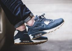 f910aa02addc Nike Air Max 90 Premium Armory Navy 700155-403