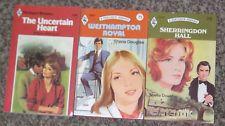 LOT OF 3 SHEILA DOUGLAS NEW HARLEQUIN VINTAGE ROMANCE BOOKS 1970's & 1980's #16