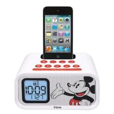 eKids Mickey Mouse Dual Alarm Clock and 30-pin iPod Speaker Dock, by iHome #MickeyMouse