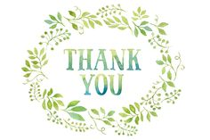 Thank you tag in floral wreath made of green leaves and orange flowers painted with watercolor. You'll get: - 1 JPEG file (3700x2750px) - 1 PNG file with transparent background If you're