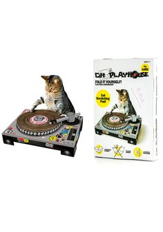 cat scratching dj deck $ 24 liked on polyvore featuring cats and pet ...