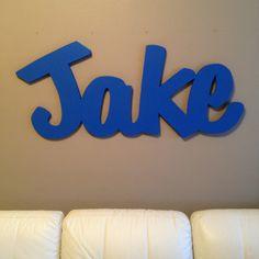 Wood name. Jake. MDF wood.