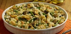 Green Bean Casserole Forget canned veggies! Fresh green beans, along with mushrooms, thyme and Sister Schubert's Parker House Style Rolls, make this one extraordinarily delicious dish. #ComfortFood #FreshGreens