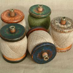 wooden bobbins / #collection