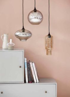 Pendants by House Doctor via Sweet Home Modern Pendant Light, Glass Pendant Light, Glass Pendants, Pendant Lighting, Pendant Lamps, Ceiling Pendant, House Doctor, Deco Paris, Decoration Chic