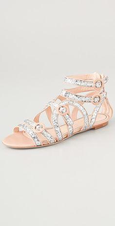 de4e6987d24b Jerome C. Rousseau Muscat Glitter Flat Sandals Flat Sandals