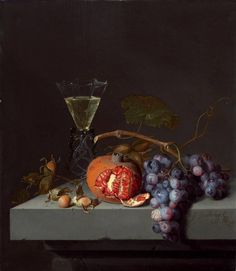 Jacob van Walscapelle, Still Life with Fruit, 1675, oil on panel