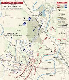 The Battle of Stones River, 31 DEC 1862, 6-10 A.M.