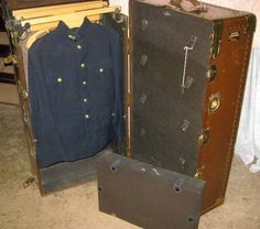 Vintage WWll ? Collectible Canadian Military Steamer Trunk / Wardrobe