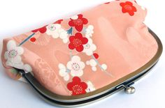 Blossom Print Vintage Japanese Kimono Silk Clutch Bag