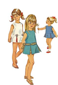 Vintage 60s Simplicity 6470 Low Waisted Dress  and Panties  Pattern  Size 2 Breast 21. $7.00, via Etsy.