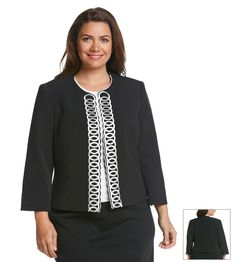 Kasper® Plus Size Embroidered Blazer