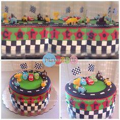 #pastelicious #fondantcake #birthdaycake #cars #pastelfondant