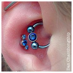 anatometal sapphires, arctic blue czs, daith and conch