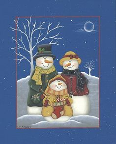 Hiver et Noel country & folk art Primitive Painting, Tole Painting, Handmade Christmas Decorations, Holiday Crafts, Christmas Snowman, Christmas Ornaments, Snowman Clipart, Creation Photo, Snowman Crafts