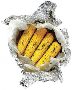 23 Camping Meal Ideas ~ Buttered Corn with Chives