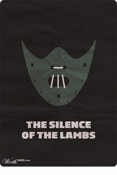 The Silence of the Lambs | THE 30 BEST FILM POSTERS MINIMALIST CULTS