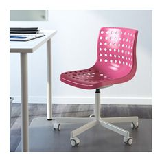 SKÅLBERG / SPORREN Swivel chair - pink/white - IKEA