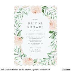 Soft Garden Florals Bridal Shower Invitation