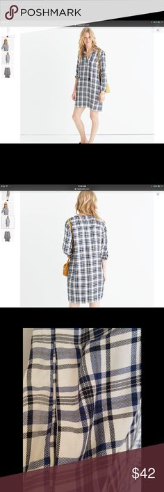 Plaid Tunic Dress Soft drapey tunic dress with swingy tassels n hidden pocket on the side. Can be worn with boots or sandals. Non waisted. 35-1/2 in body lt. Rayon. Hand wash. Madewell Dresses Mini