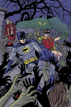 #Batman #And #Robin #Fan #Art. (BATMAN '66 #17) By: Mike Allred. (THE * 5 * STÅR * ÅWARD * OF: * AW YEAH, IT'S MAJOR ÅWESOMENESS!!!™) ÅÅÅ+