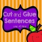 20 pages of cut and glue sentences. Students must cut out words, sequence them into the correct word order, glue them and write the sentence in the...