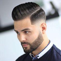 Mens Hairstyles Pompadour, Pompadour Fade, Hairstyles Haircuts, Updos Hairstyle, Medium Hairstyles, Wedding Hairstyles, Cool Mens Haircuts, Cool Hairstyles For Men, Side Part Haircut