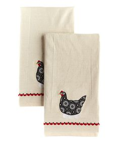 Take a look at this Hen & Egg Home to Roost Dish Towel - Set of Two by Design Imports on #zulily today!