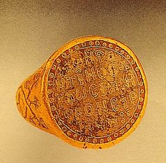 Late 12th C betrothal ring