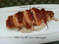 Il petto di pollo intero al formaggio: un'idea per rendere molto gustosa una carne che di norma è molto magra e asciutta.