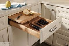 KraftMaid Cabinetry: Knife Section Cutting Center - kitchen cabinets - detroit - KraftMaid