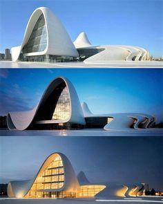▪ Heydar Aliyev Center by Zaha Hadid Architects Zaha Hadid Buildings, Zaha Hadid Architecture, Parametric Architecture, Innovative Architecture, Famous Architecture, Architecture Magazines, Futuristic Architecture, Contemporary Architecture, Architecture Design
