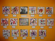 jackson pollock for preschoolers | Pollock Inspired Art @ New Horizons Preschool