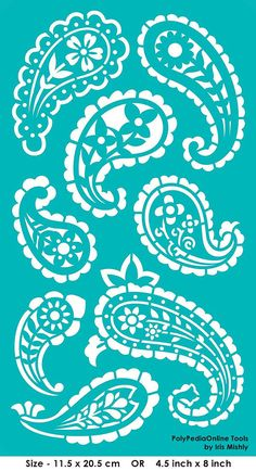 Stencil Stencils Paisley Pattern Template Reusable Adhesive
