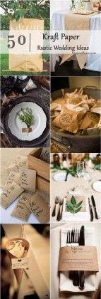 Kraft Paper rustic country wedding ideas